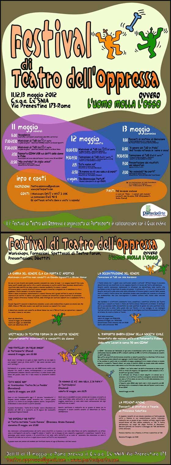 Vieni anche tu al Festival del Teatro dell'Oppresso 2012!
